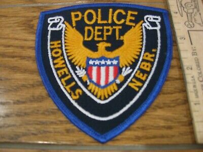 old Howells Nebraska Police patch vintage NE