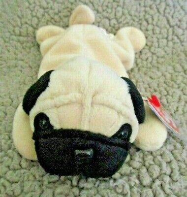 Ty Beanie Baby Pugsly the Dog DOB May 2, 1996 MWMT