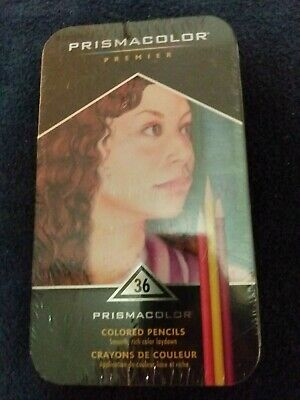 Prismacolor Premier Colored Pencils Soft Core 36 Pack in Collector Tin *New*