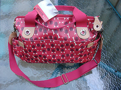 Storksak Kate Large Red Shoulder Nappy Bag. NEW w tags. RRP 750 Shipping Free