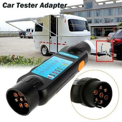 Trailer light Wiring Circuit Tester Fit 7 Pin Cable Plug Socket Car Boat Caravan