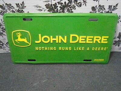 "John Deere Green License Plate""Nothing Runs Like a Deere"" Pre-owned"