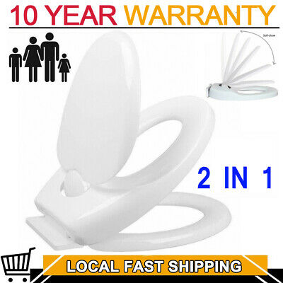 2 in 1 Kids Child Toilet Seat Toddler Adult Family Potty Training Chair Cover