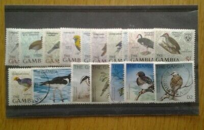 Thematic stamps, Birds on Gambia stamps.