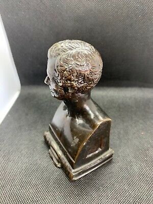 A 19c  antique bronze bust of/by  the sculptor William Brodie.