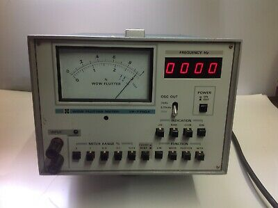 National Vp-7750A Wow And Flutter Meter For Tape Decks