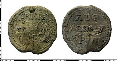 Medieval - Lead Papal Bulla Seal - Alexander IV - Extremley RARE !