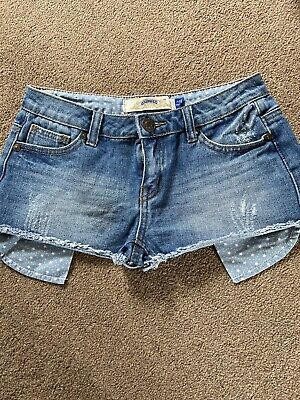 Girls New Look Generation Very Short Denim Shorts Age 11