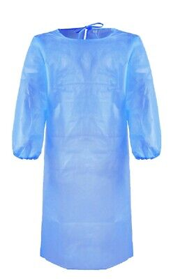 Disposable Surgical Isolation Gowns Medical Protective Clothing w/ Elastic Band
