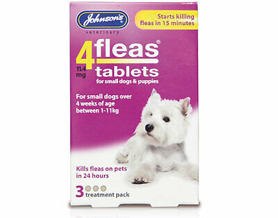 Johnson's 4fleas tablets for Puppies & Small Dogs (3 Flea Treatment Pack)