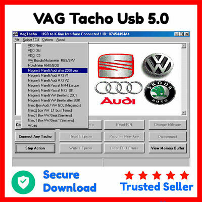 VAG Tacho Usb 5.0 Software Works Without Dongle ⭐ Secure Download