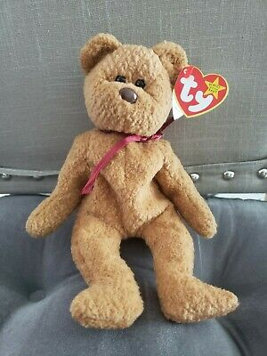 CURLY The Bear Ty Beanie Babies  With multiple tag errors - RARE