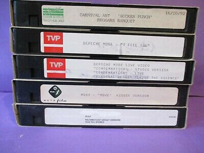 MOBY PROMO VHS VIDEO Move ORIGINAL 1993 electronic EDM mute