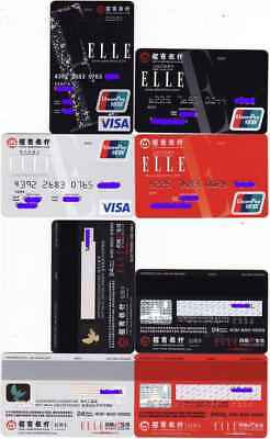 CA0049 China Merchants Bank cards ELLE 4pcs