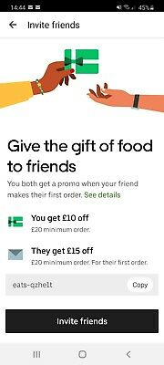 Uber Eats £15 Off Voucher Code £20 Spend- First Order Only
