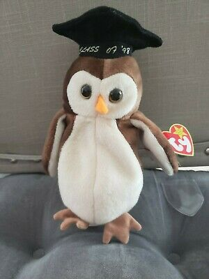 TY Beanie Baby Collection WISE THE OWL Class of 07 98  MINT MULTIPLE ERRORS