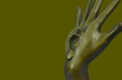 Bronze Sculpture Highly Collectible Collector Hand Hot Cast Marble Base Figurine