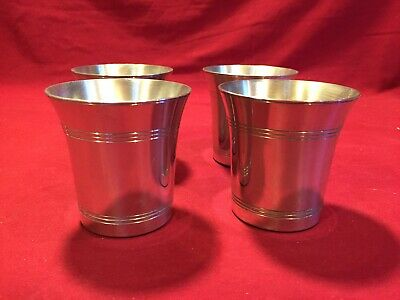 "Williamsburg Like Pewter 7 oz. 3"" Tall cups Set Of 4"
