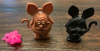 Lot 3 rat fink charms, all have ring holes...Perfect! 1960's