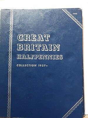Whitman Great Britain Halfpennies Collection Complete In Folder