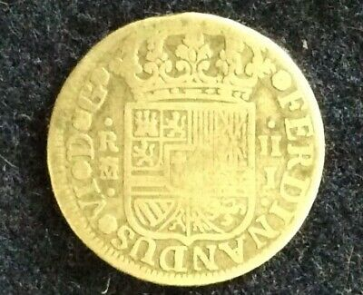 Spain 1759 2 Reales silver