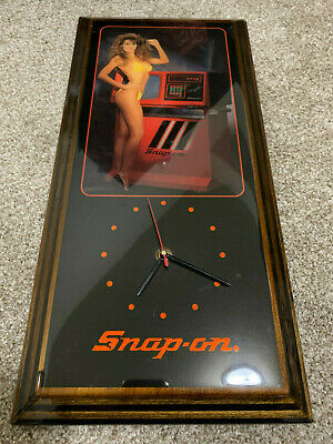 FATHERS DAY GIFT!!!!    Vintage 80's Snap On Tools Pin Up Girl Wall Clock
