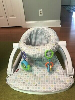 Fisher-Price GGD48 Sit-Me-Up Floor Seat - Grey/Green/Blue