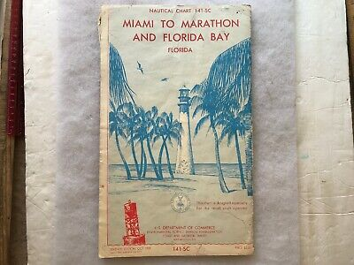 1969 Miami To Marathon And Florida Bay Vintage Nautical Chart