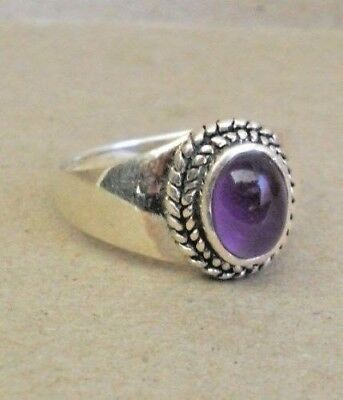 Handmade Sterling Silver Amethyst Ring Size 7 or 9