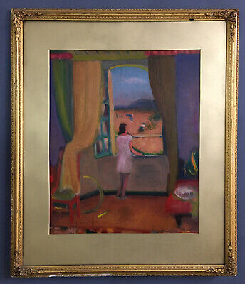 Antique French Fauvist Oil On Board Painting By Charles Adolphe BISCHOFF