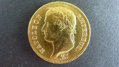 Gold 40 Francs Napoleon I 1811 Low Mintage Uncirculated Coin.