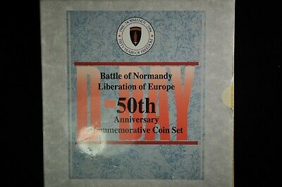 Battle of Normandy 50th Anniversary Commemorative Coin Set /B43