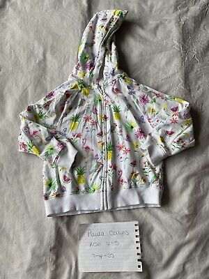 Girls Next Flamingo Hoodie Age 4-5
