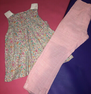 Next Floral Top And Trouser Set Age 5-6