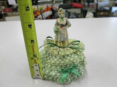 Vintage Porcelain Pin Cushion Doll / Sewing # 28