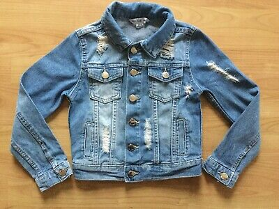 Primark Girls Denim Jacket Age 7-8 Years