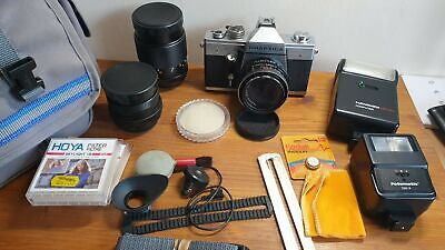 Vintage Praktica LTL 3 Camera With Accessories Includes Lenses Filters Flashes