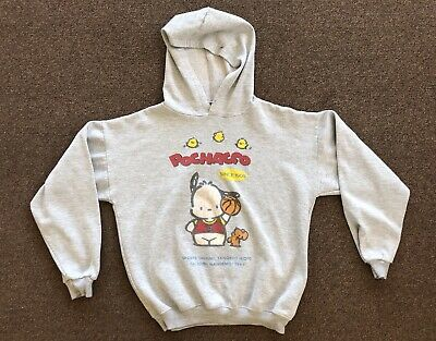 Vintage Sanrio Pochacco Sweat Shirt Gray Hoodie Size Small Hello Kitty
