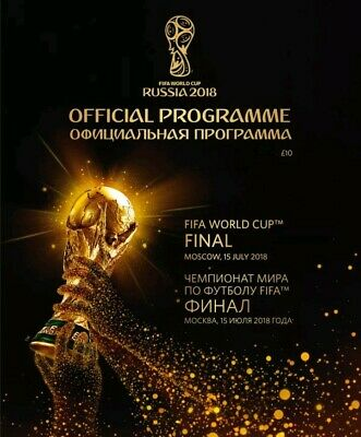 World Cup Final Russia 2018  Programme France V Croatia Brand New Mint Condition
