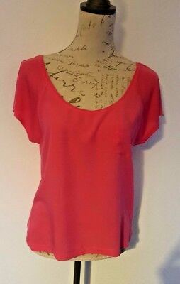H&M Pink Loose/Off the Shoulder Top Size Small Ladies/Girls VGC