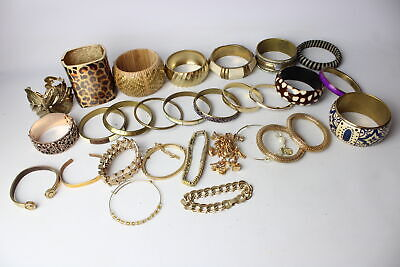 30 x Vintage & Retro BRACELETS & BANGLES Inc. Modernist, Copper, Gold Tone