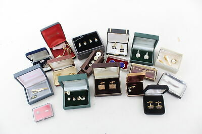 15 x Vintage & Retro Boxed CUFFLINKS & Dress Accessories inc. Ede & Ravenscroft