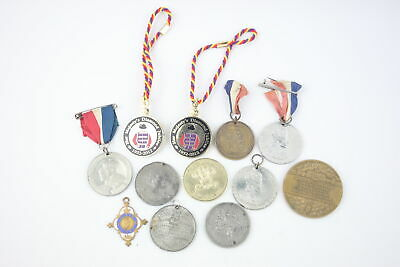 12 x Antique / Vintage ROYAL MEDALS / MEDALLIONS Inc Queen Victoria, Coronation