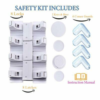 Child Proof Magnetic Safety Cabinet Lock Kit, Baby Proofing Lock for Cabinets