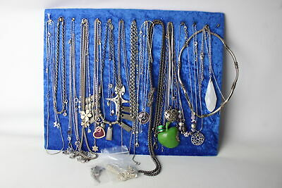 30 x Vintage & Retro Silver Tone NECKLACES inc. Mixed Lengths, Mixed Styles