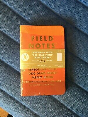 "Field Notes Irregular Issue "" DDC Dead Print"" Sealed 3 Pack #263 Of 2000 Made"