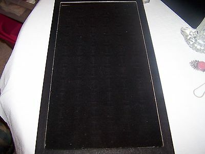 New 72 Slot Glass Covered Ring Case/Display