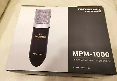 Marantz Mpm-1000 Studio Condenser Microphone Inc Shock Mount, Stand, Cable New