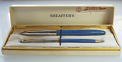 Sheaffer Lifetime Snorkel Fountain Pen & Pencil Set New Old Stock In Box