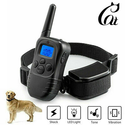 Dog Shock Training Bark Collar 3-Mode Waterproof  Rechargable with Remote 1000FT